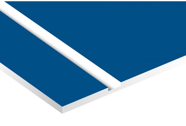 Plaque boite aux lettres Decayeux (100x25mm) bleue lettres blanches - 3 lignes