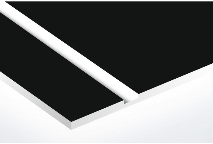 Plaque boite aux lettres Decayeux (100x25mm) noire lettres blanches - 3 lignes