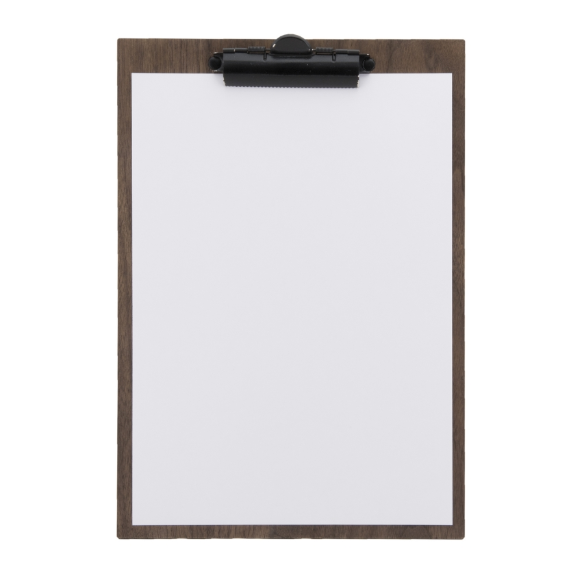 Lot de 10 porte-menu clipboard A4 en noyer