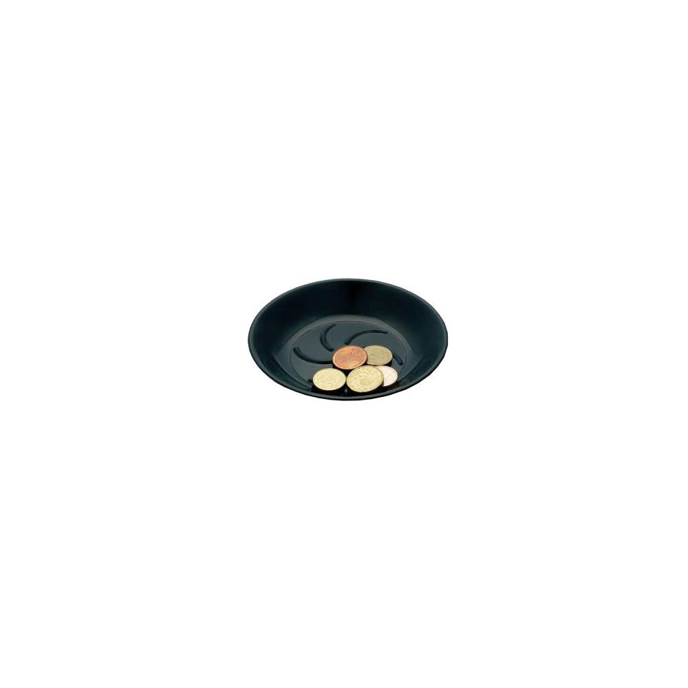 Coupelle porte addition noir en plastique pour hôtel, restaurant, café, bar