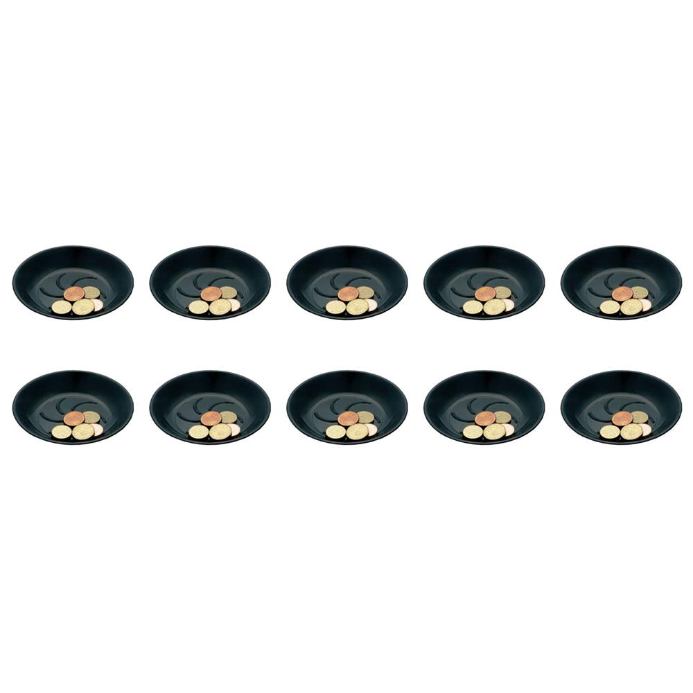 Lot de 10 coupelles porte addition noir en plastique pour hôtel, restaurant, café, bar