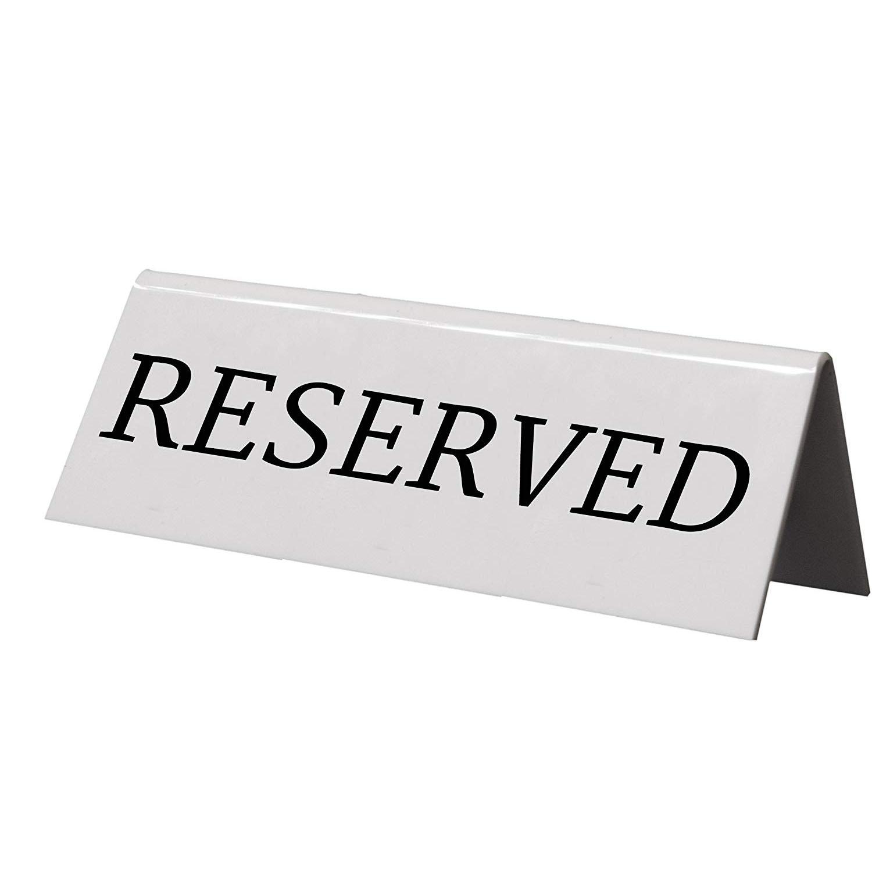 "5 Chevalets ""Reserved"""