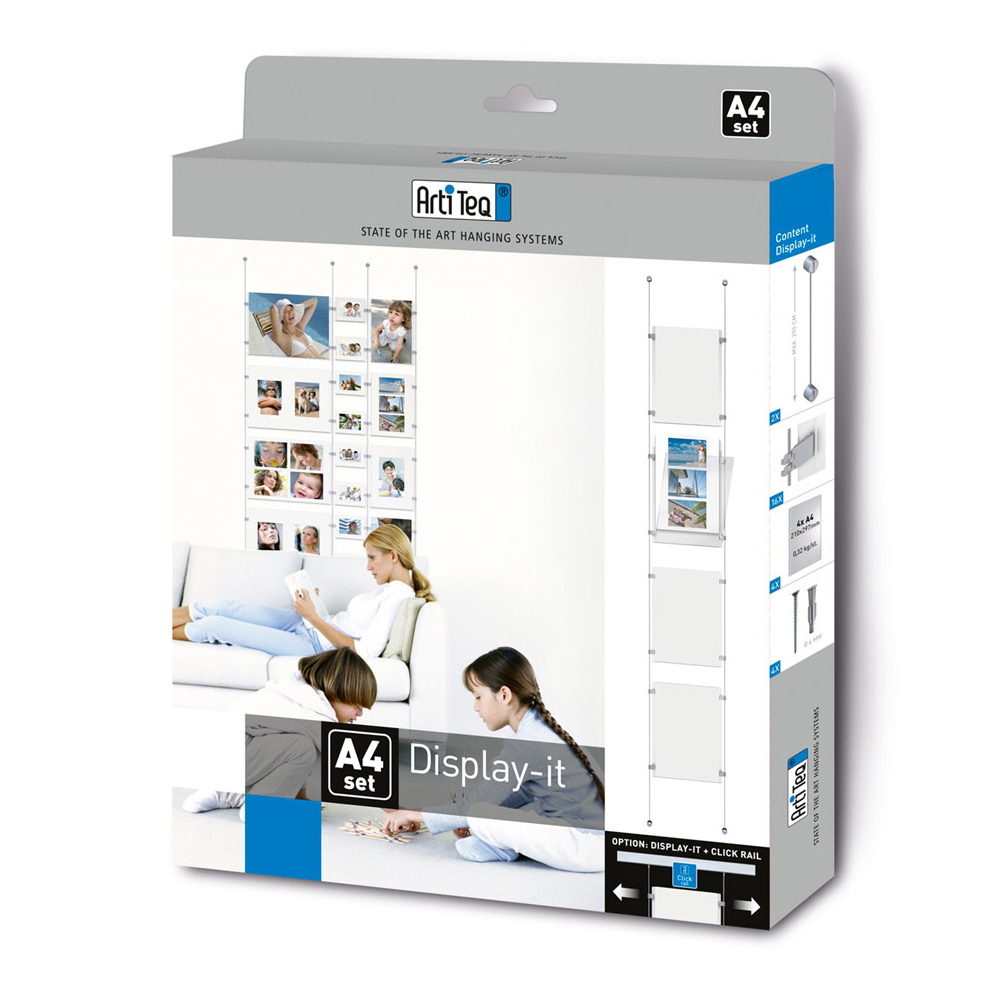 Kit affichage documents sur câble Display It - Artiteq