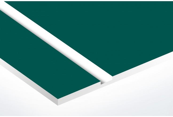 Numéro pour boite aux lettres personnalisable rectangle petit format (50x35mm) vert foncé chiffres blancs