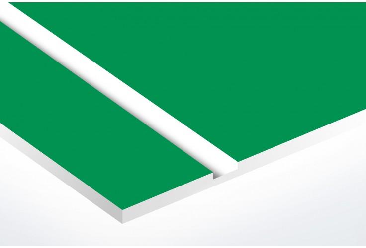 Plaque boite aux lettres Edelen STOP PUB (99x24mm) vert pomme lettres blanches - 3 lignes