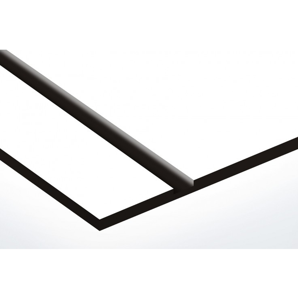 Plaque boite aux lettres Signée blanche lettres noires - 3 lignes