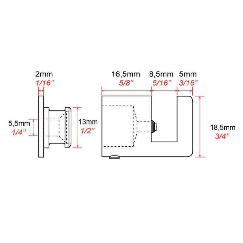Slotted wall mounting FIXF2
