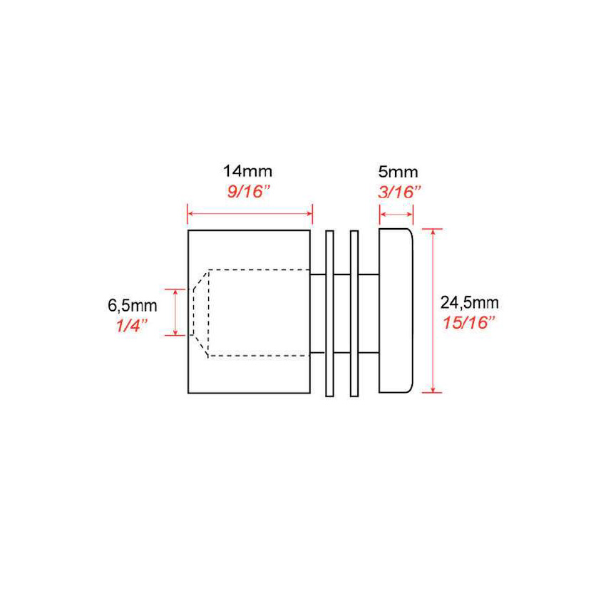 Screw wall mounting FIXV5