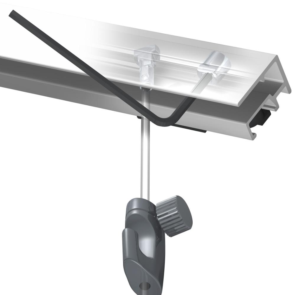 Cylindre de sécurité pour cimaise Click Rail - Cylindre sécurité stop pente