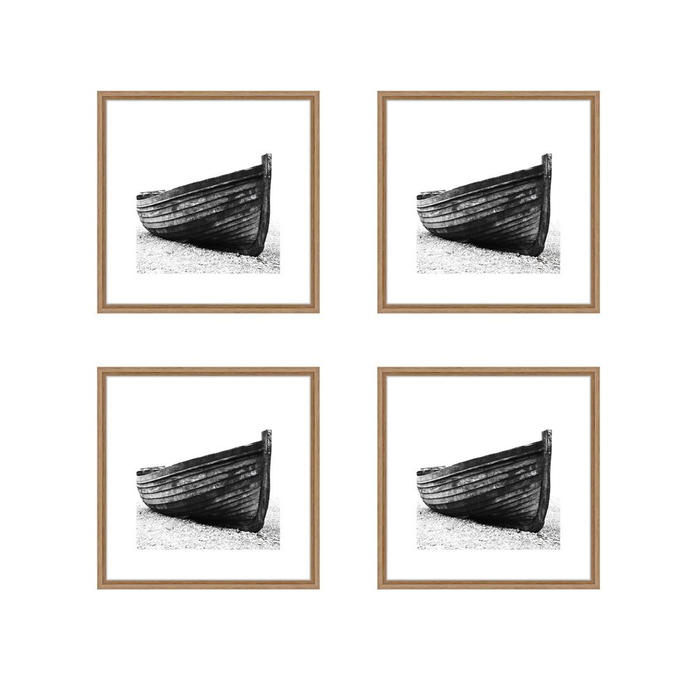 Lot de 4 cadres Nielsen Linus chêne format carré (20 x 20 cm) avec passe-partout - Encadrement décoration murale