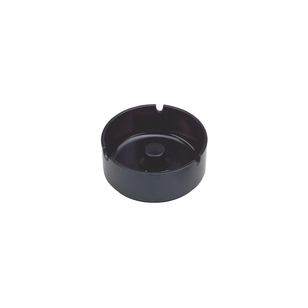Lot de 5 cendriers en mélamine couleur noir diamètre 10 cm - Accessoires bar restaurant