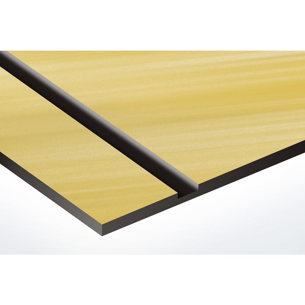 Plaque boite aux lettres Decayeux (100x25mm) or brossé lettres noires - 3 lignes