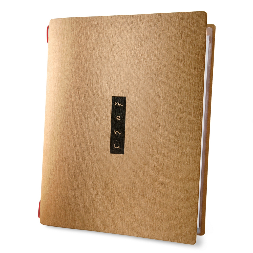 Protège menu format A4 couleur naturel 1 insert modèle ZEN - Dag Style