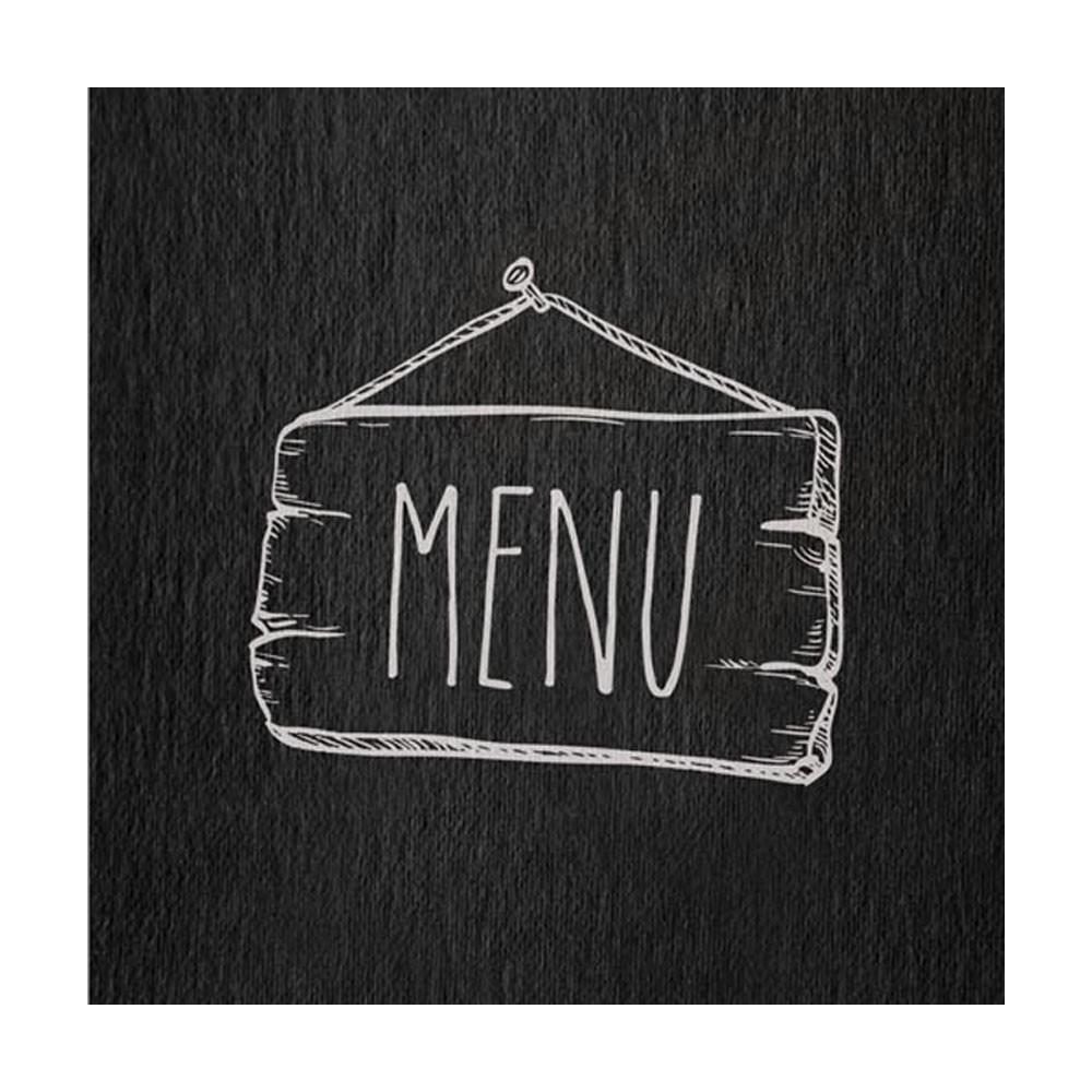 """Lot 10 protèges menu noir panneau western """"Menu"""" format A4 1 insert modèle SALOON - Dag Style"""