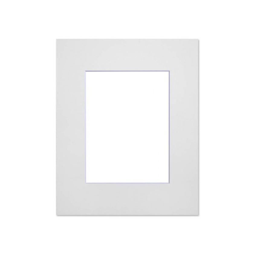 Lot de 10 passe-partouts standard blanc pour cadre et encadrement photo - Nielsen - Cadre 18 x 24 cm - Ouverture 9 x 14 cm