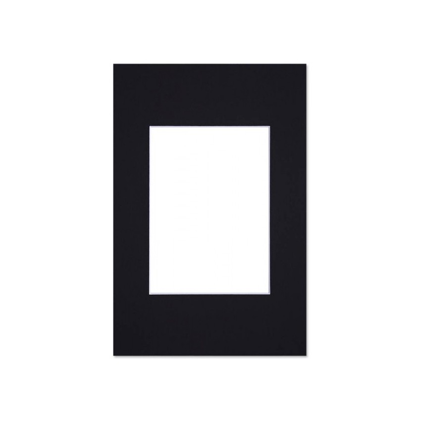 Lot de 5 passe-partouts standard noir pour cadre et encadrement photo - Nielsen - Cadre 18 x 24 cm - Ouverture 9 x 14 cm