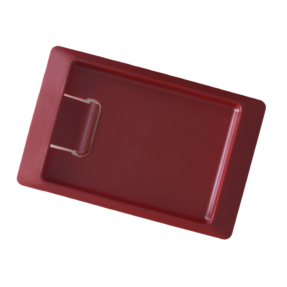 Lot de 10 porte-additions rectangle rouge avec pince