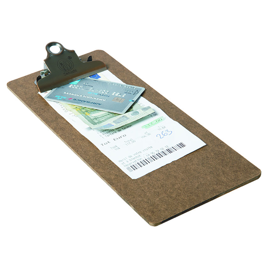 Clip board porte addition marron