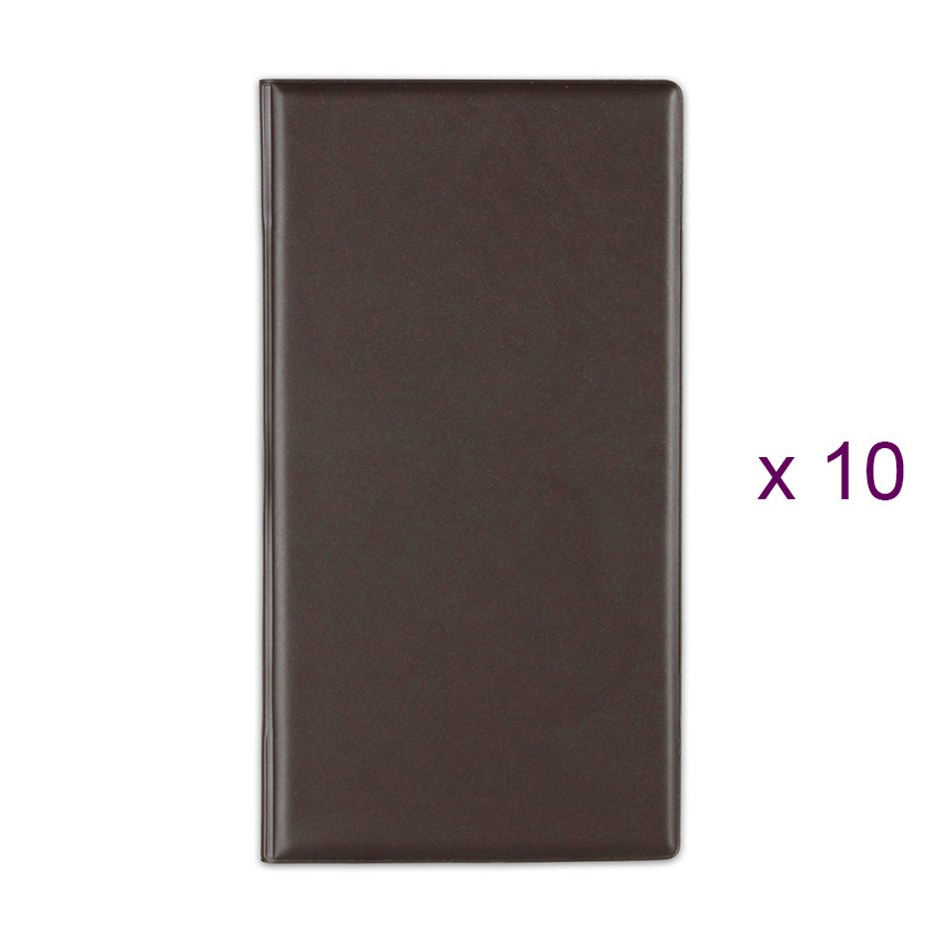 Lot de 10 Porte-additions RISTO marron