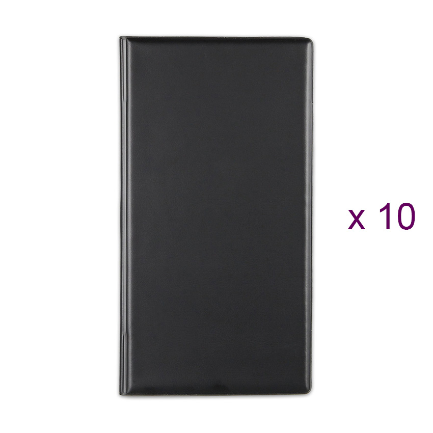 Lot de 10 Porte-additions RISTO noir