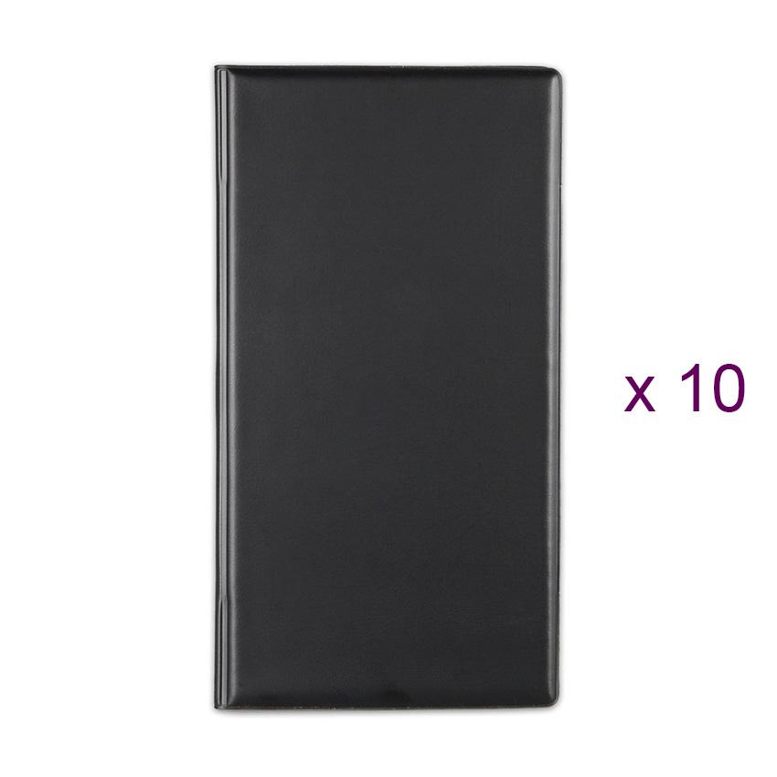 Lot de 10 Porte-additions RISTO noir