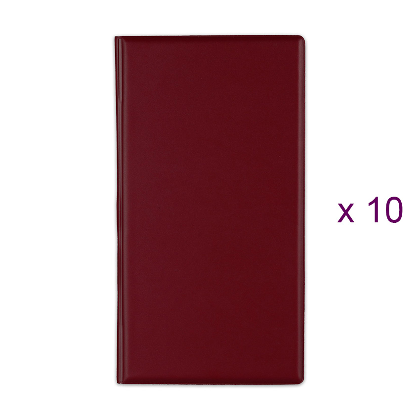 Lot de 10 Porte-additions RISTO bordeaux