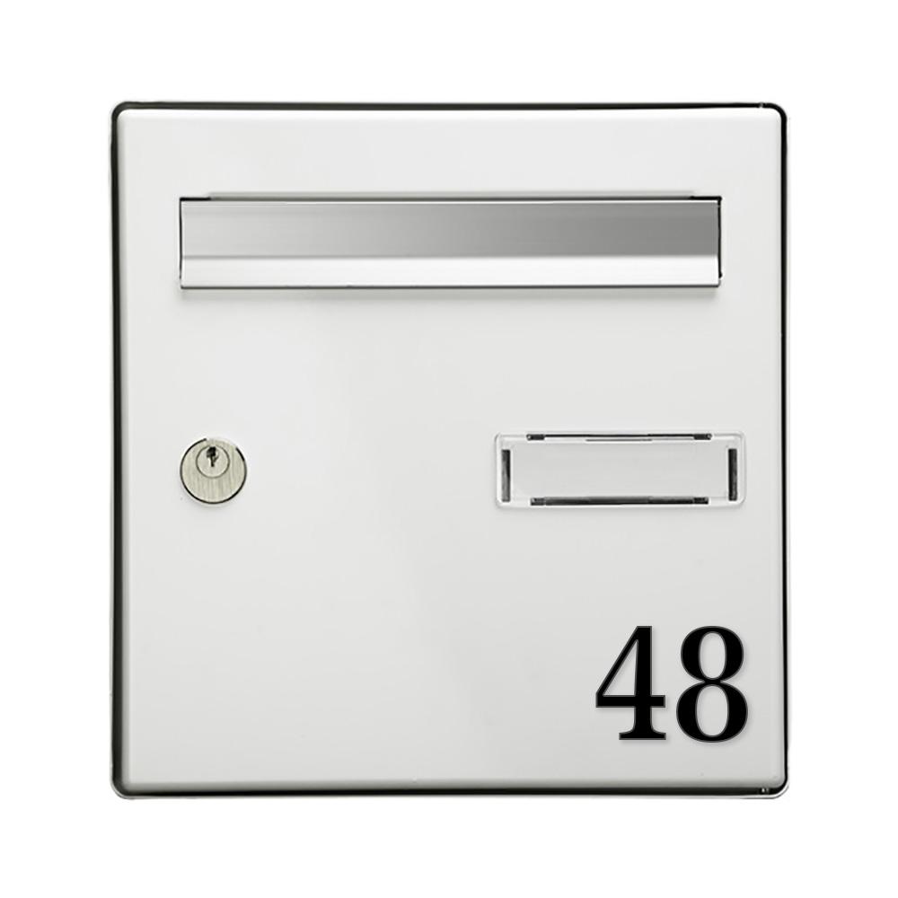 Chiffre adhésif 5 cm pour boite aux lettres