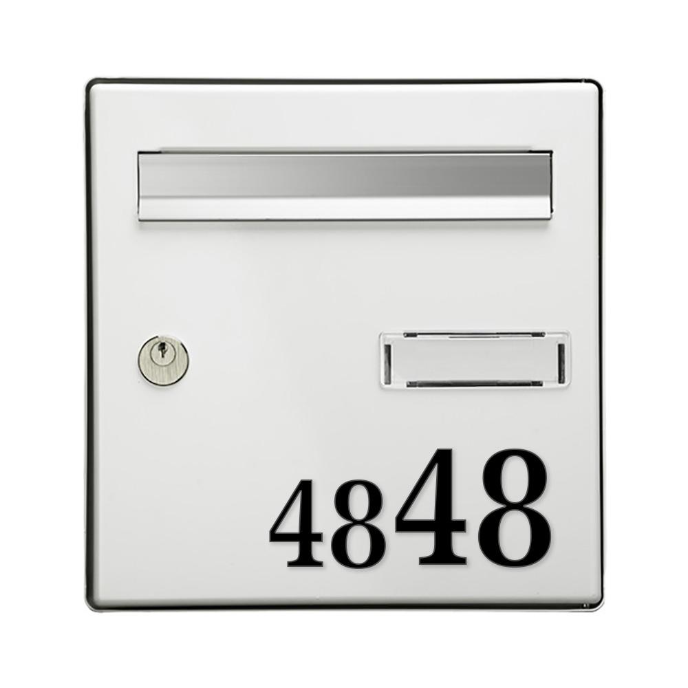 Chiffre adhésif 7 cm pour boite aux lettres