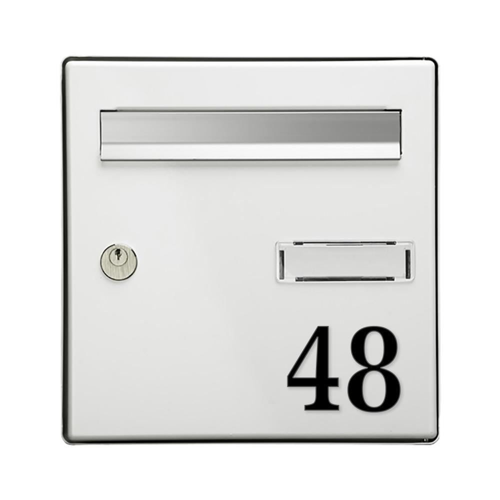 Chiffre adhésif pour boite aux lettres