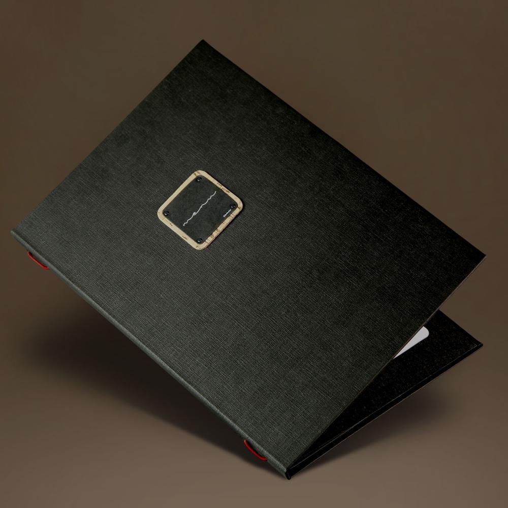 Protège menu A4 noir modèle Gourmet - Hôtel - Restaurant - Dag Style