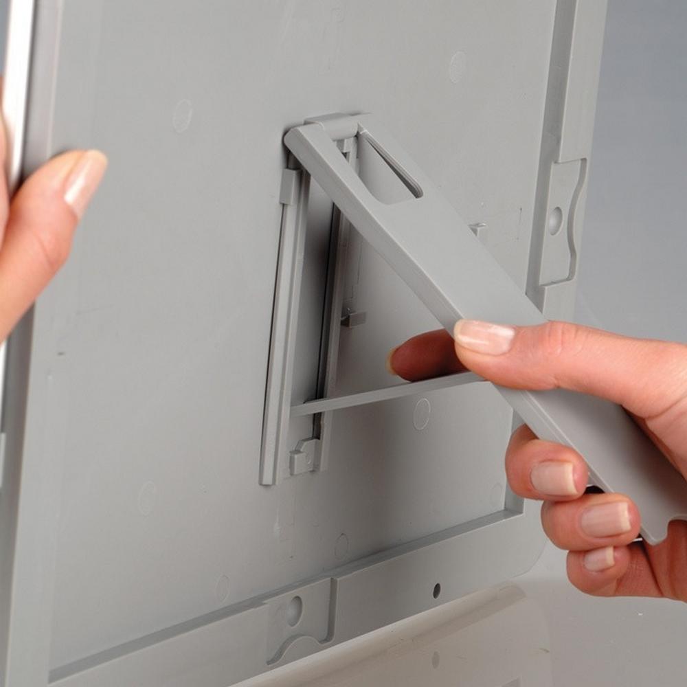 Lot de 5 cadres Opti Frame format A4 couleur gris profil 25 mm - Affichage mural - Cadre signalétique