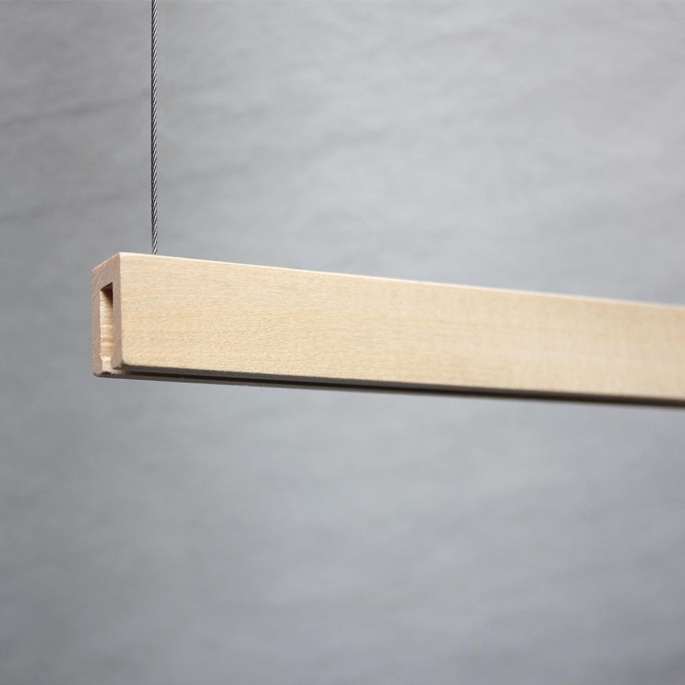 Profil en bois magnétique pour suspension de visuels / signalétique - Longueur 50 cm