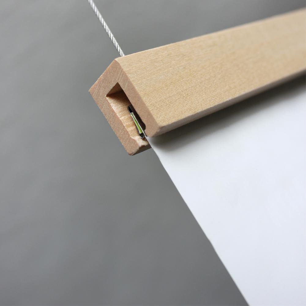 Porte affiche en bois magnétique pour suspension de visuels / signalétique légère + 1 baguette adhésive Z-tick