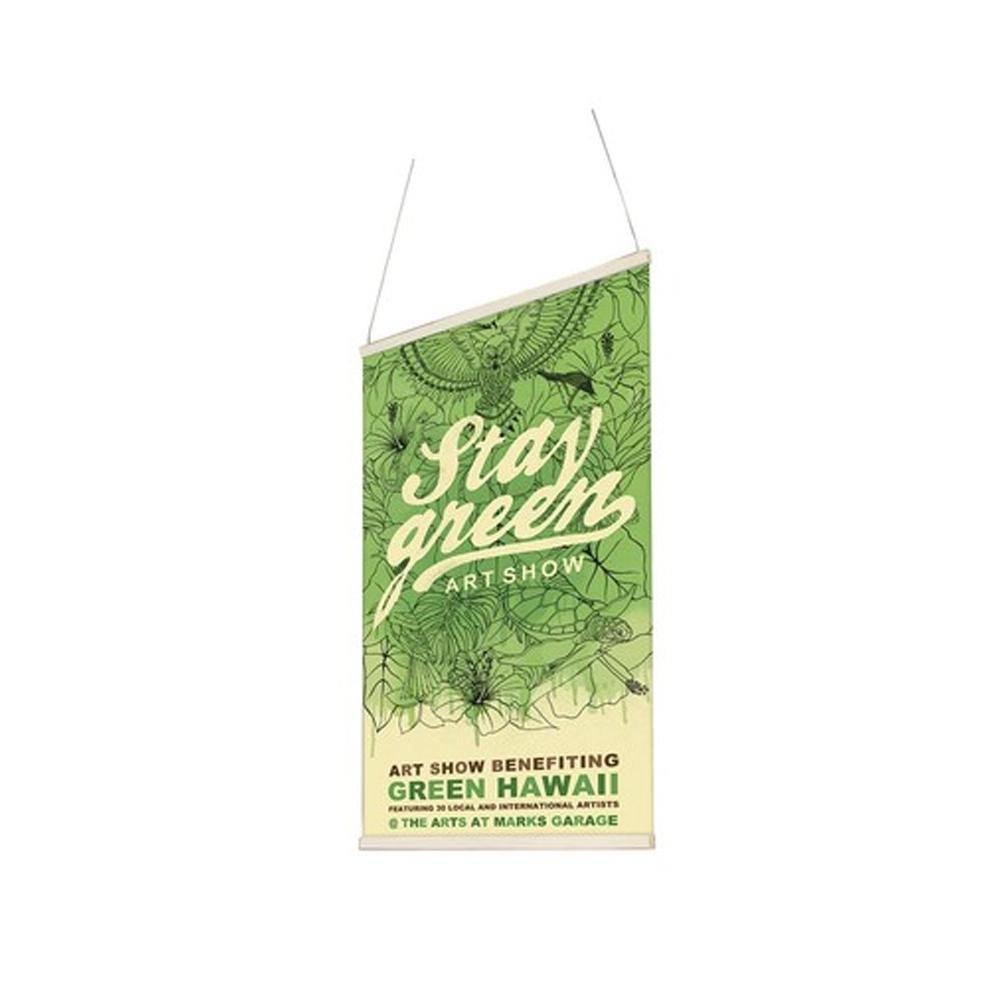 Porte affiche en bois magnétique Hang Up Wood pour suspension de visuels / signalétique légère + 1 baguette adhésive Z-tick