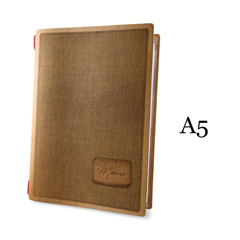 Protège menu format A5 couleur naturel 1 insert modèle COUNTRY - Dag Style