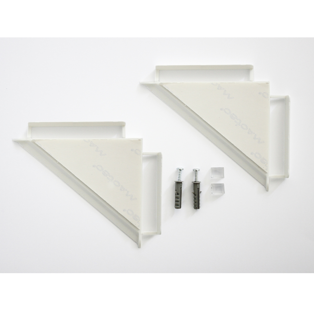 Lot de 2 entretoises invisibles pour fixation murale de cadres, tableaux, panneaux - Fissart 45°