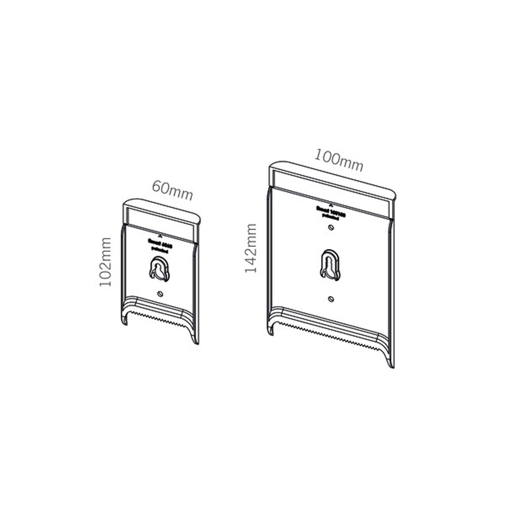 Lot de 2 entretoises invisibles pour fixation mural de cadres, tableaux, panneaux - Fissart 45°