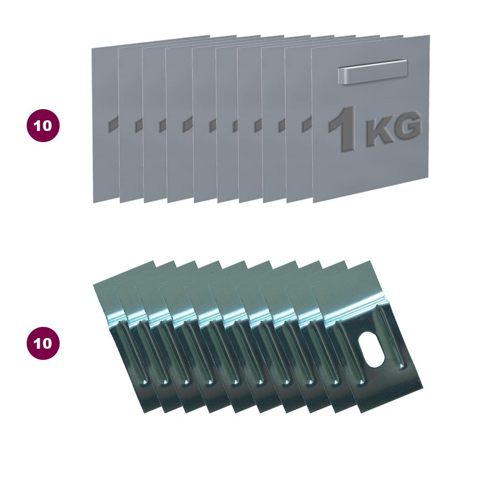 Boite de 10 attaches adhésives Dibond et miroir 45x 45 mm charge maxi 1 kg