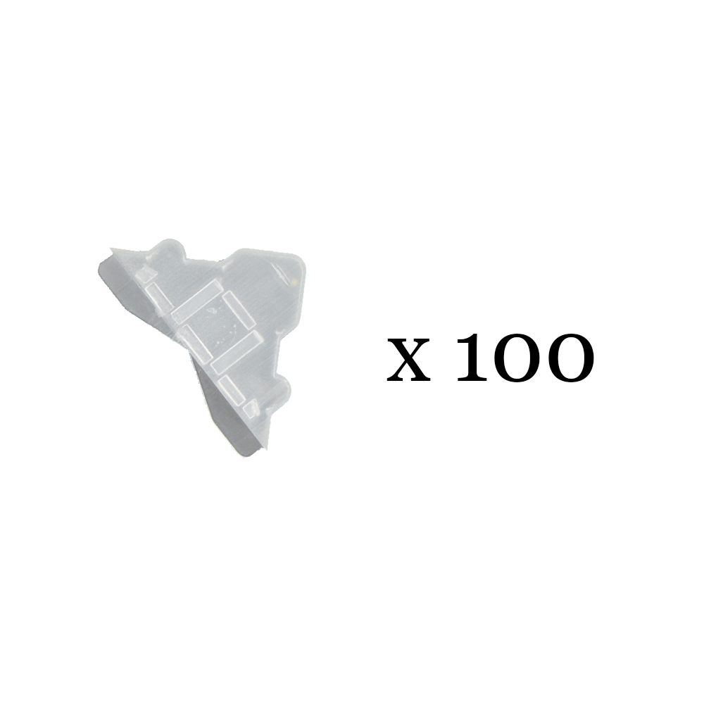 Lot de 100 angles de protection transparents 3 mm pour Dibond, miroir, verre, signalétique