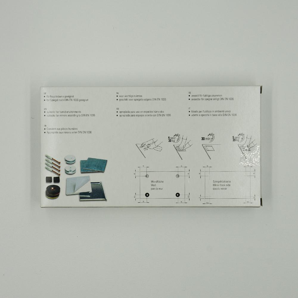 Kit de fixation murale anti-mouvement pour miroir, Dibond, signalétique - Charge maxi 12 kg - SAFEMAX