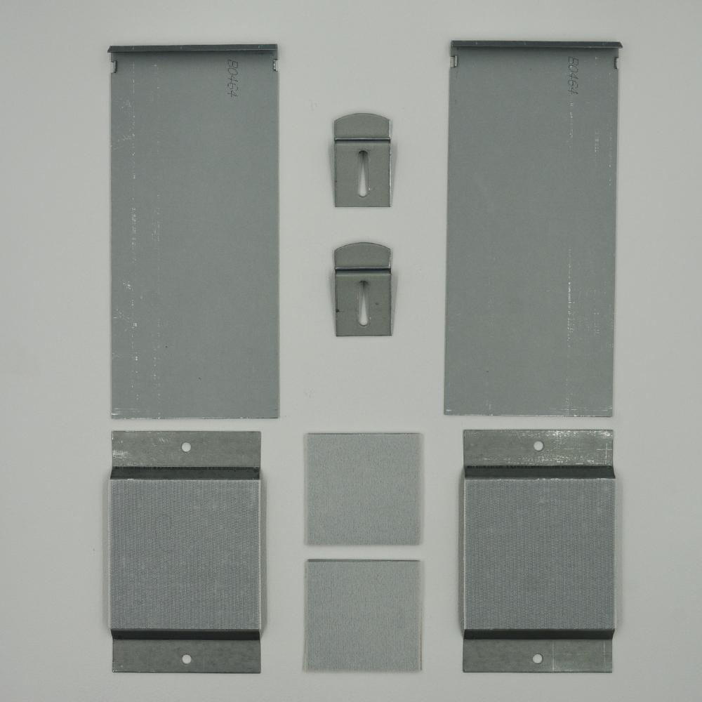 Kit de fixation murale invisible anti-mouvement pour miroir, enseigne, Dibond - Charge maxi 24 kg - VITOFIX