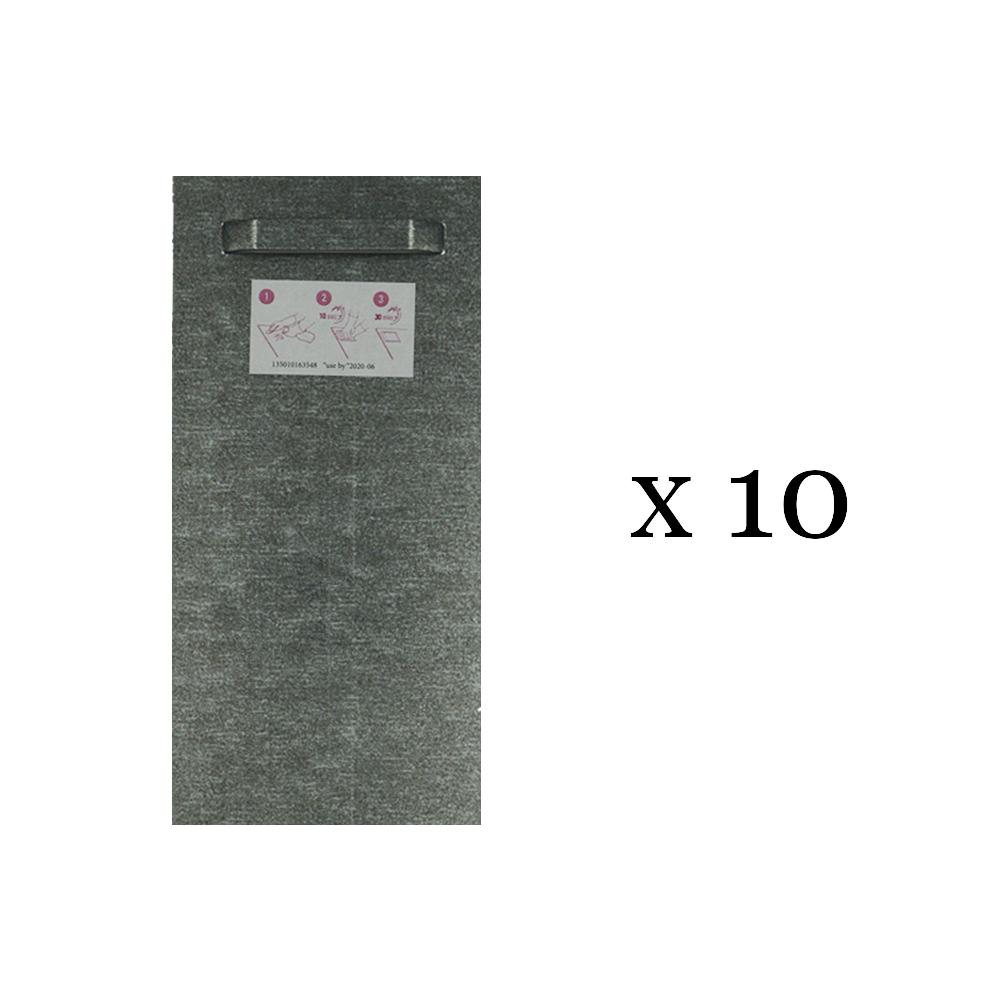 Lot de 10 attaches adhésives 100x200 mm max 12 kg pour intérieur / extérieur - Fixation Dibond et miroir