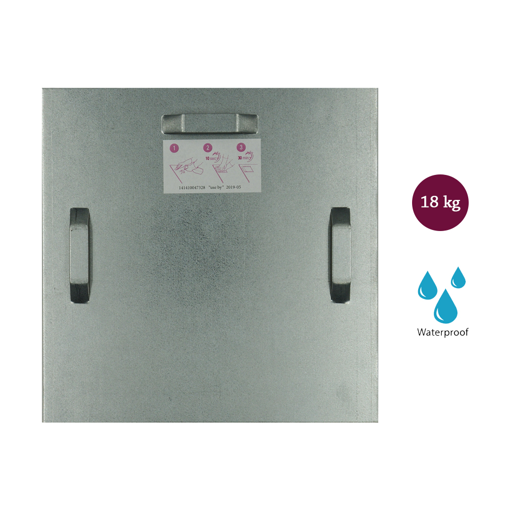 Attache adhésive 180x180 mm max 18 kg pour intérieur / extérieur - Fixation Dibond et miroir