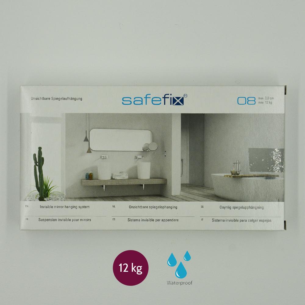 Kit de fixation murale pour miroir, Dibond, signalétique avec disques excentriques - Charge maxi 12 kg - SAFEFIX