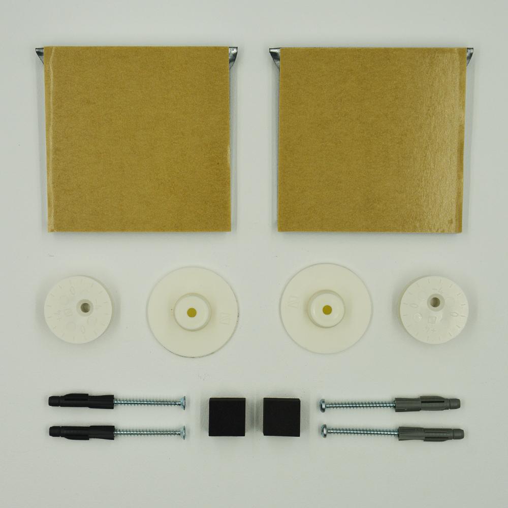 Kit de fixation murale pour miroir, Dibond, signalétique réglable (latéral et hauteur) - Charge maxi 12 kg - SAFECLIX