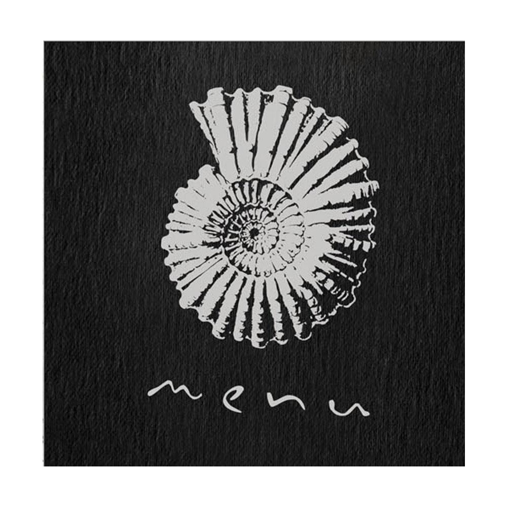 """Protège menu noir format A4 """"Menu"""" orné d'une coquille 1 insert - Dag Style"""