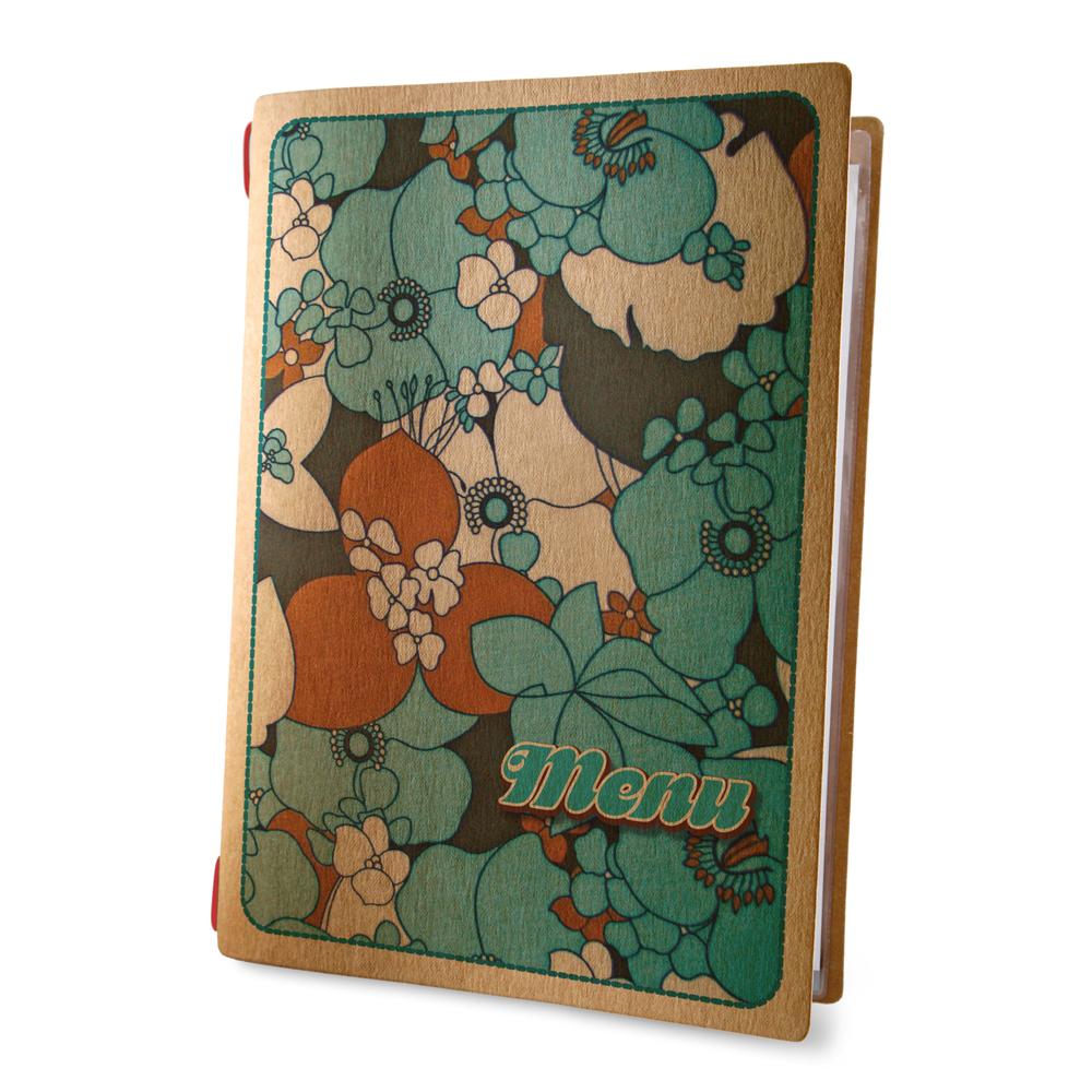 Protège menu format A4 couleur naturel 1 insert modèle TROPICAL - Dag Style