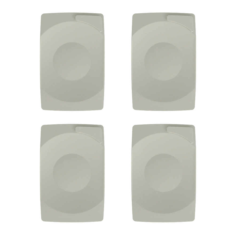 Lot de 4 plateaux porte-addition couleur blanc format rectangle 21 x 14 cm - Accessoires table CHR