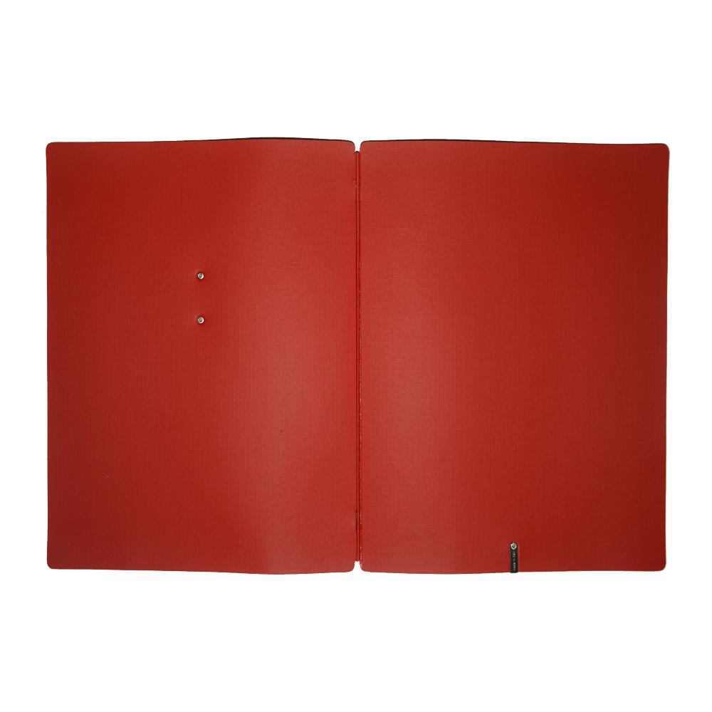 Protège menu marron foncé effet toile de jute format A4 en PVC pour hôtel restaurant - Dag Style