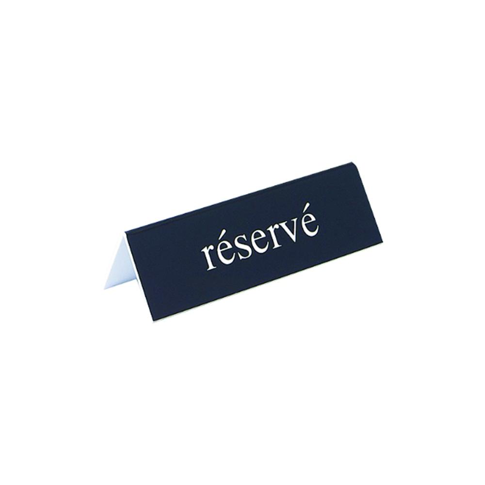 """Lot de 5 chevalets de table """"RÉSERVÉ"""" pour hôtel restaurant - Signalétique économique pour table hôtel restaurant"""